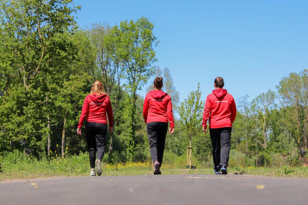 Buurtsportcoaches wandelen in het Groene Hart
