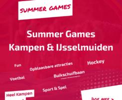 Promotie flyer van de Summer Games 2021